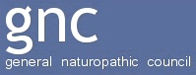 General Naturopathic Council logo and link to website
